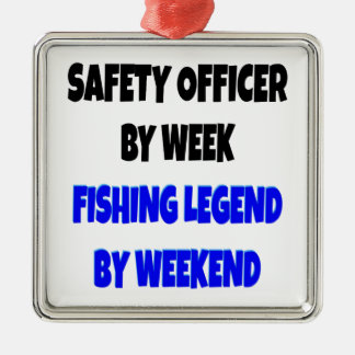 Fishing Legend Safety Officer Christmas Ornament