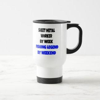 Fishing Legend Sheet Metal Worker Coffee Mugs