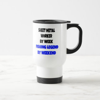 Fishing Legend Sheet Metal Worker Stainless Steel Travel Mug