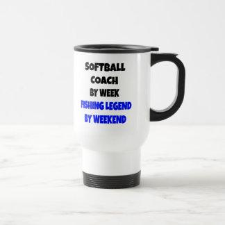 Fishing Legend Softball Coach Travel Mug