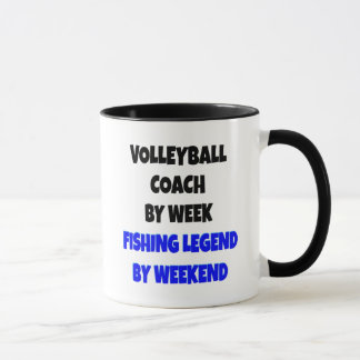 Fishing Legend Volleyball Coach Mug