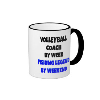 Fishing Legend Volleyball Coach Ringer Mug