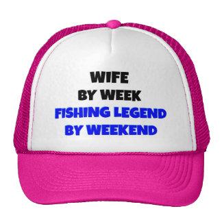 Fishing Legend Wife Trucker Hats