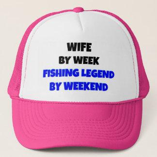 Fishing Legend Wife Trucker Hat