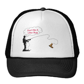 fishing litter bug hat