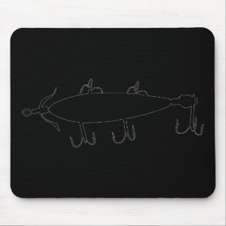 Fishing Lure 2 Silhouette a Mouse Pad