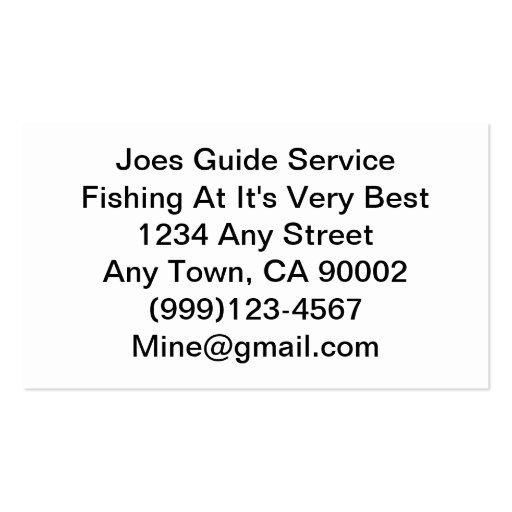 Fishing Lure / Guide Service Business Card Template