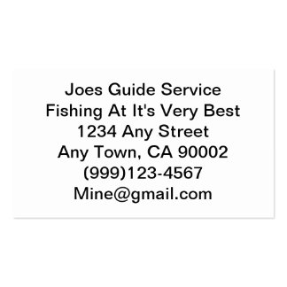Fishing Lure / Guide Service Pack Of Standard Business Cards