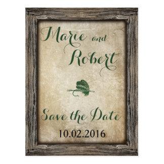 Fishing Lure Wedding Save the Date Postcard