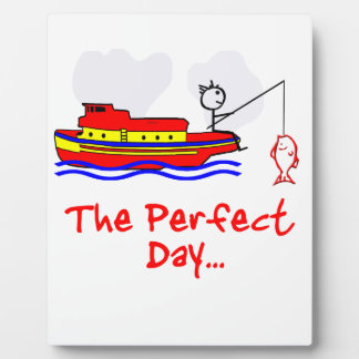 Fishing Man Boat Plaque