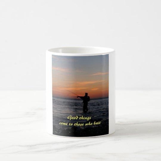 fishing man sunset, Good things come to those w... Coffee Mug