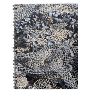 Fishing Net And Shells Print Notebook