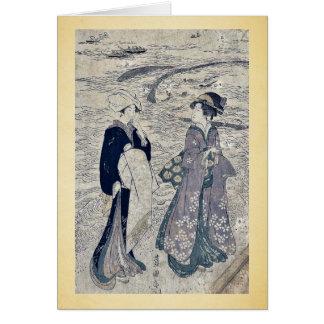 Fishing net by Utagawa, Toyokuni Ukiyoe Cards