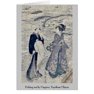 Fishing net by Utagawa, Toyokuni Ukiyoe Greeting Card