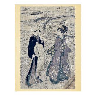 Fishing net by Utagawa, Toyokuni Ukiyoe Postcards