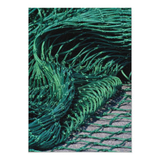 "Fishing net, Grand Manan Island, New Brunswick, Ca 5"" X 7"" Invitation Card"
