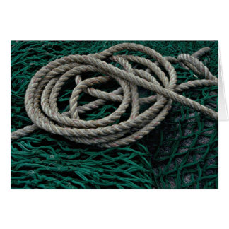 Fishing nets and rope card