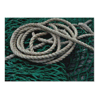 Fishing nets and rope personalized invite