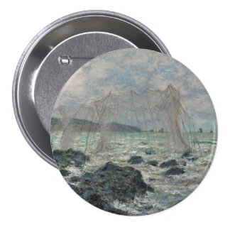 Fishing Nets at Pourville by Claude Monet 7.5 Cm Round Badge