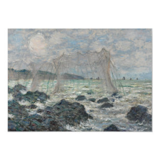 Fishing Nets at Pourville by Claude Monet Custom Invites