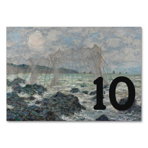 Fishing Nets at Pourville by Claude Monet Table Cards