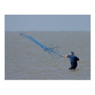 Fishing Nets Ocean Postcard