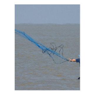 Fishing Nets Ocean Post Card