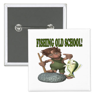 Fishing Old School Button
