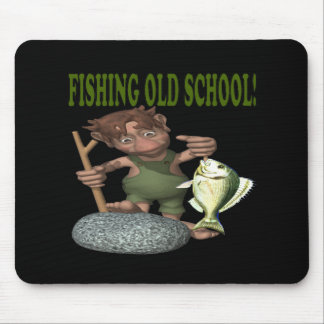Fishing Old School Mouse Pad