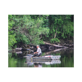 Fishing on the Ocklawaha River Canvas Print