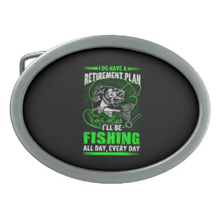 Fishing Oval Belt Buckle