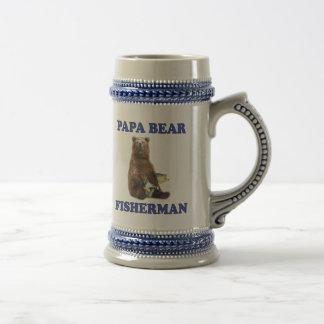 Fishing Papa Bear Beer Stein