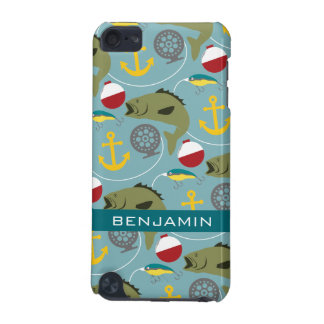 Fishing Pattern with Custom Name iPod Touch 5G Case