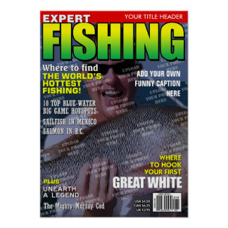 Fishing Personalised Magazine Cover Poster