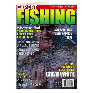 Fishing Personalized Magazine Cover Greeting Card