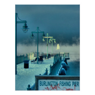 Fishing Pier Burlington Vermont Poster