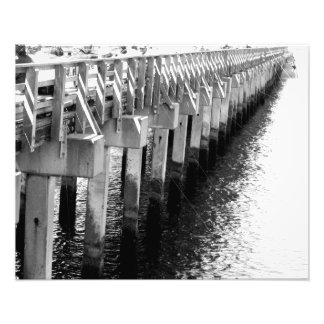 'Fishing Pier Legs' Photographic Print