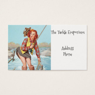 Fishing Pinup Business Card