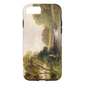 Fishing: Playing a Fish (oil on canvas) iPhone 8/7 Case