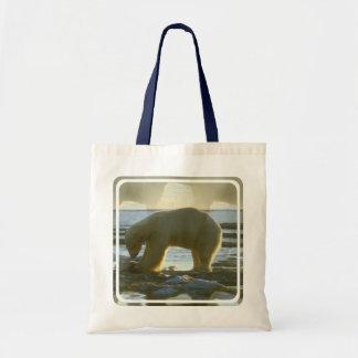 Fishing Polar Bear Tote Bag