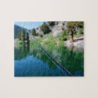 Fishing pole and lake jigsaw puzzle