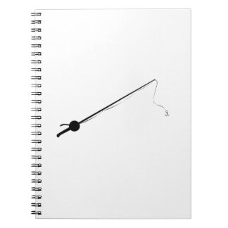 Fishing Pole Spiral Note Books