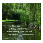 Fishing quote by Henry David Thoreau Poster