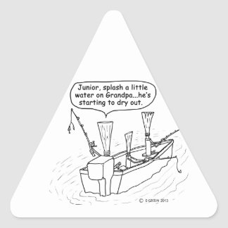 Fishing Reeds Triangle Stickers