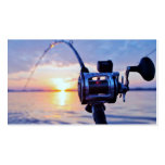 Fishing Reel at Sunset Double-Sided Standard Business Cards (Pack Of 100)