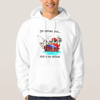 Fishing retirement hoodie
