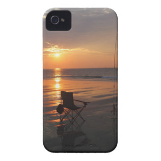 Fishing rod and chair by the ocean in the early iPhone 4 cover