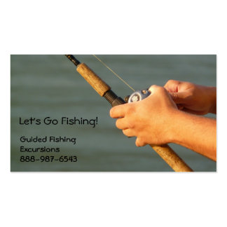 Fishing  Rod and Reel Business Card for Guides