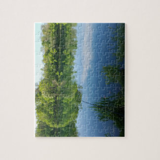 Fishing rods at the lake jigsaw puzzle