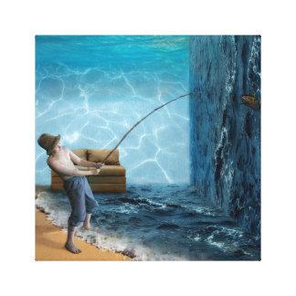 Fishing Room Canvas Print
